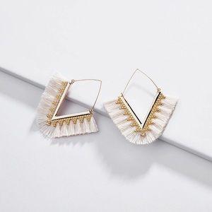 Jewelry - NEW! Bohemian Hoop Tassel Earrings